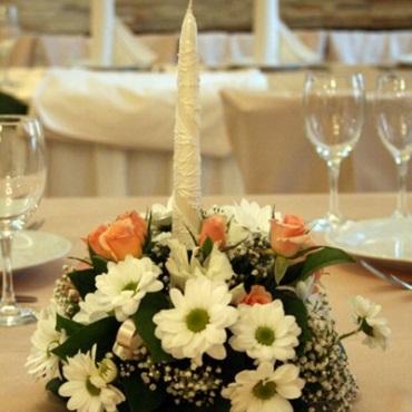 Свадебная флористика из живых цветов 179